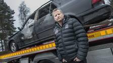 Jimy Hed äger bilen som sattes i brand i Sätra natten mot fredag.