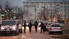 Polis vid insatsen i Neudorf