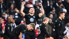 Marcus Antonsson jublar efter att ha gjort 1–0 mot Besiktas.