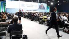 En bild från mötet i Katowice under torsdagen.