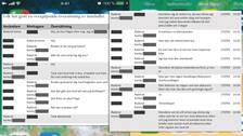inklippta bilder på chattkonversation i text