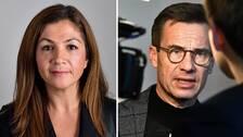 Gulan Avci, riksdagsledamot för Liberalerna och Ulf Kristersson, Moderaternas partiledare.