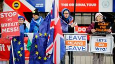 Brexit-demonstranter, både för och mot