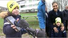 När kronprinsessan var på besök i Helsingborg passade 7-åriga på att ta en bild med tronföljaren.