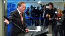 Stefan Löfven håller presskonferens efter statsministeromröstningen