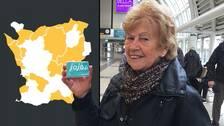 Gunvor Norén i Helsingborg tillhör de lyckligt lottade som kan åka gratis på bussen. Men det gäller långtifrån alla.