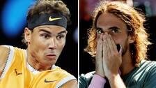 Rafael Nadal och Stefanos Tsitsipas.