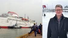 M/S Visborg och Christer Bruzelius, vd för Destination Gotland.