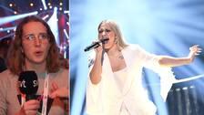 Lydia Farran-Lee (t.v) guidar till lördagens omgång av Melodifastivalen. Rebecka Karlsson (t.h) är en av förhandsfavoriterna.