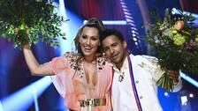 Lina Hedlund och Jon Henrik Fjällgren tog sig direkt till final från Melodifestivalens tredje deltävling