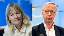 Marita Ulvskog (S) och Gunnar Hökmark (M)