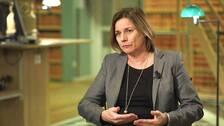 Miljöpartiets språkrör, klimat- och miljöminister Isabella Lövin (MP)