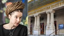 Kulturminister Anna Lind (MP) till vänster, och Dramaten till höger.