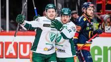 Marcus Nilsson och Oskar Steen jublar för Färjestad.