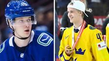 Elias Pettersson hoppas på ett tredje raka VM-guld för Tre Kronor. Vancouver-spelaren var med truppen i fjol men stoppades då av skador.