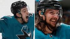 Kevin Labanc och Erik Karlsson i San Jose Sharks.
