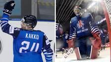 Blir det nya mål framåt för Finlands Kaapo Kakko (till vänster), och nya insläppta för Storbritannien?
