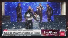 Madonna får kritik för sitt framträdande av Like a prayer under lördagens final av Eurovision song contest.