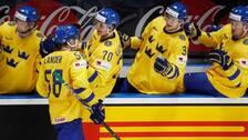 Tre Kronor blev klara för kvartsfinal efter vinst mot Lettland.