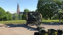 kanoner salut uppsala slott