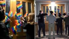 Liberala ungdomsförbundet Väst kuppar in prideflaggor i Munkedal