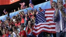 USA leder med 1-0 mot Sverige.