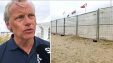 Mats G Jönsson driver bolaget bakom Åhus beachhandboll.