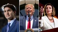 Kanadas premiärminister Justin Trudeau och talmannen Nancy Pelosi är några av de som kritiserat Donald Trumps uttalanden.