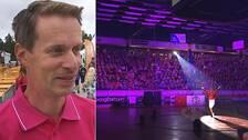 Tomas Öberg, generalsekreterare O-ringen, invigningen av O-ringen 2019.