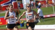 Therese Johaug tävlade på 10000 meter på norska mästerskapen.