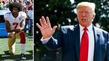 Colin Kaepernick och Donald Trump.
