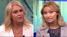 Socialminister Lena Hallengren (S) och KD-ledaren Ebba Busch Thor