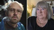 bildmontage med skådespelaren David Dencik som Thomas Quick och Anna-Clara Asplund