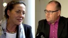 Carina Bulic (D) och Johan Nyhus (S) är två profiler inom debatten om Västlänken.