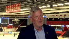 SSK:s nye klubbdirektör Robert Andersson i Scaniarinken.
