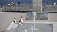 Förra sommaren präglades av en lång, ihållande torka och värme. Fotot är taget vid Strömpartären i Stockholm den 26 juli 2019.