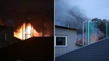 Sporthall i Göteborg totalförstörd i brand