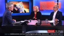 Arturo Arques, privatekonomisk rådgivare och Cecilia Hermansson, nationalekonom, intervjuas om nya budgeten.