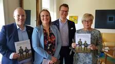 Härnösand kommunalråd Anderas Sjölander (S), regionstyrelsens vice ordförande Sara Nylund (S), Sollefteås kommunalråd Johan Andersson (C) och landshövding Berit Högman.