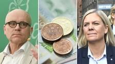 John Hassler, svenska pengar ochMagdalena Andersson.