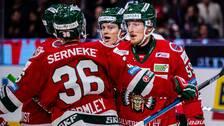 Frölunda jublar efter 2-0 mot Linköping