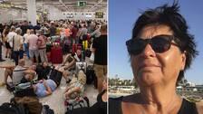 Det råder kaos på flera charterdestinationers flygplatser sedan researrangören Thomas Cook gått i konkurs. Berith Bojestig Peterson från Ljungby fick informationen om det inställda flyget hem från Cypern innan sällskapet hade hunnit ta sig till flygplatsen.