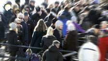 En bild på en folksamling.
