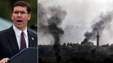 USA:s försvarsminister Mark Esper har framför att USA vill att Turkiet avbryter offensiven i Syrien.