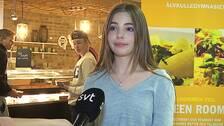 Gymnasieeleven Emma Andersson var en av dem som passade på att ta med sig en matlåda hem