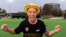 Caroline Seger var lika lättad som glad efter Rosengårds elfte SM-guld.