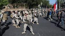Soldater på gatorna i Santiago.
