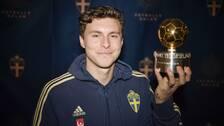 Victor Lindelöf med Guldbollen.