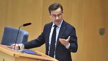 Moderaternas partiledare Ulf Kristersson i EU-debatten i riksdagen
