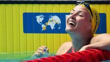 Michelle Coleman vann SM-guld i Eriksdalsbandet.